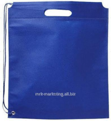 Bag backpack. 80 g/m2 nonwoven polypropylene. Blue