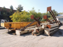 Pavement crane two-frame, with a loading capacity
