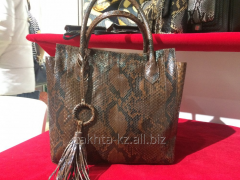 Bag from leather of python
