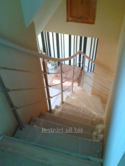 Ladder for the house on bolets wooden