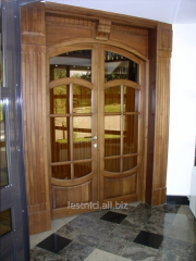 Door with a glazing entrance of a beech