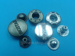 Buttons metal mm d 12 Alpha with drawing