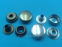 Buttons metal ring d 15 of mm without drawing in