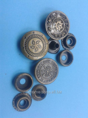 Buttons metal ring d 20 of mm with drawing