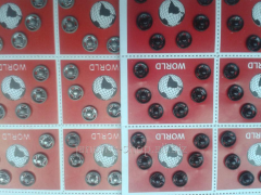 Buttons attached metal No. 0