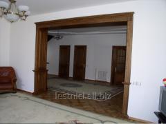 The arch is wooden door