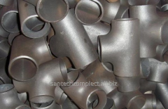 Tee steel welded ravnoprokhodny / transitional