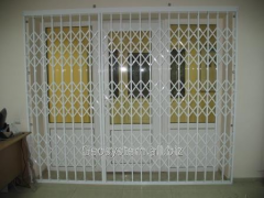 Sliding lattice for doors aluminum