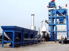 Stationary asphalt concrete plants