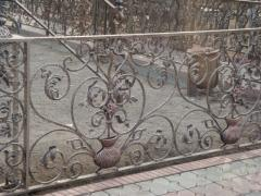 Handrail metal forged