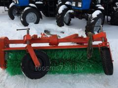 The hinged equipment NO-86 track broom (for MTZ)
