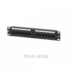 "Patch panel 12 port 5e, 19"" RJ 45"