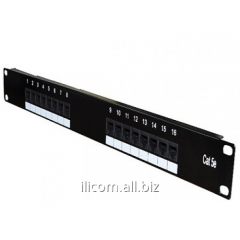 "Patch panel screened 16 port, 19"" RJ 45"