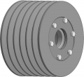 Pulley assembled 2-43-103