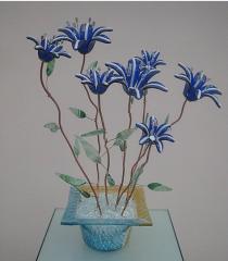 Glass imagination Flowers meadow