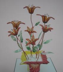 Стеклянная фантазия цветы луговые золотистые