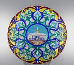 Стеклянная тарелка Ак Орда