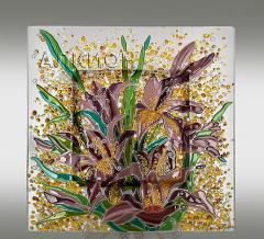 Стеклянная тарелка Лилии
