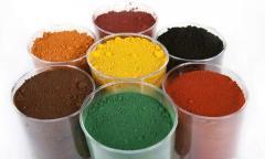 Pigments iron oxidic for concrete