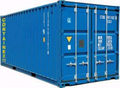 Storage of goods in containers warehouse