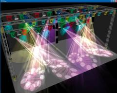 The equipment sound and lighting for discos