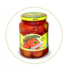 Tomatoes crude tinned 0,67 l in tomato juice