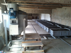 Equipment for production of a gas concrete