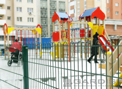 Playgrounds. Sports grounds in Kazakhstan.