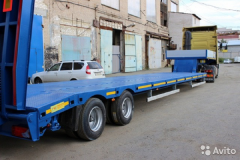 Semi-trailer heavy truck 2-axis low-frame