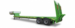 Semi-trailer heavy truck 2-axis high-frame