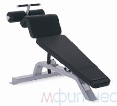 Bench with the return inclination of PRECOR