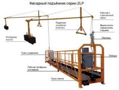 Front ZLP 630 elevator of cradle construction