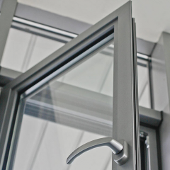 Doors from the aluminum shape (an alloy of AA 6063
