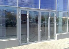 Doors aluminum (a profile - an alloy of AA 6063
