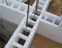 Fixed timbering from M-25 expanded polystyrene