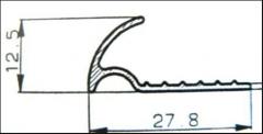 Profiles raznourovnevy aluminum (alloy of AA 6063