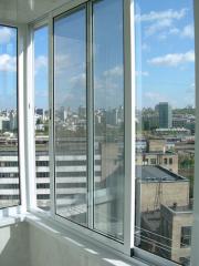 Frames balcony aluminum (profiles from an alloy of