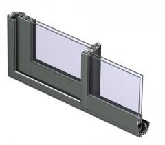 Frames aluminum (the pressed profiles from an