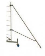 Angular skid for scaffolding of ClimTec Krause