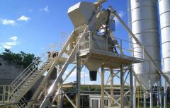 Стационарный бетонный завод СТ-75, скиповая подача