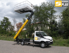 Tower vehicle with a telescopic arrow of 16 m -