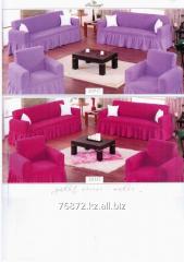 Чехлы на резинке для дивана и кресла