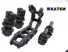 Натяжные и опорные катки Komatsu, Caterpillar