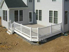 Handrail from the reinforced profile PVC