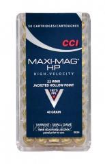 Boss CCI caliber of 22 Win.Mag MAXI-MAG JHP 40grs