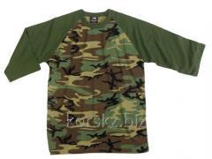 Rothco Woodland t-shirt sleeve 3/4 (62505, S,