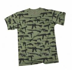 T-shirt with the Rothco weapon (66360, L, Olive)
