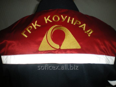 Overalls with a logo, selection of color scale