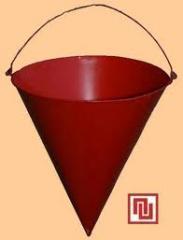 Bucket fire (conical) 8 l., Bucket fire