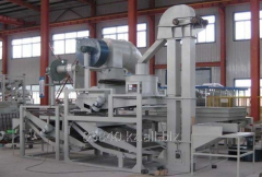 Equipment for a peeling and separation of oats,